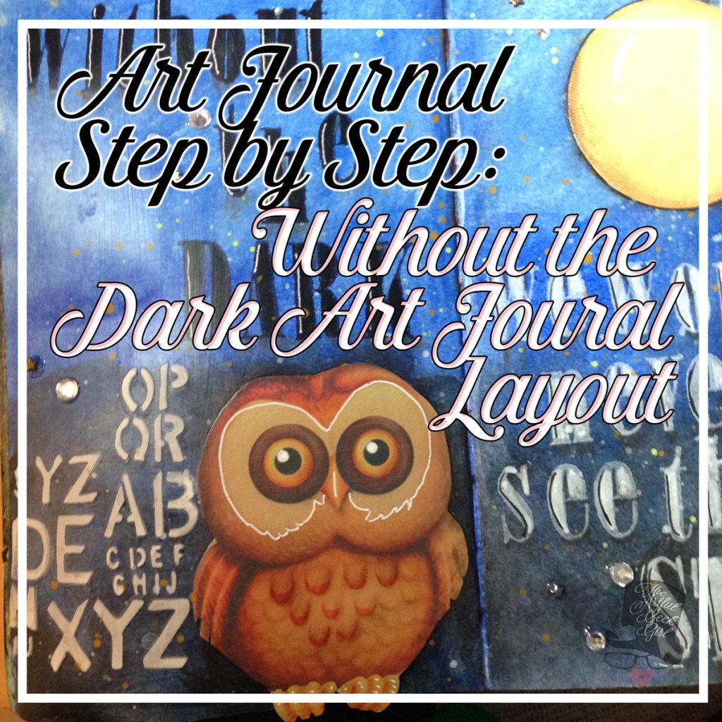 art journal page without the dark